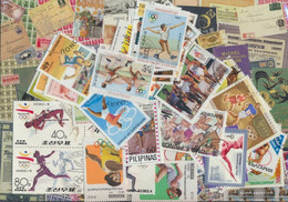 Motives Stamps-50 Different Athletics Stamps - Atletica