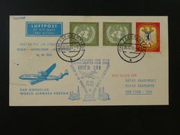 Lettre Premier Vol First Flight Cover Freudenstadt New York Via Wien Lufthansa 1955 Ref 101644 - Briefe U. Dokumente