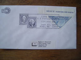 Bureau Temporaire 1997 150th US Postage Stamps, CINCOPEX Rome Ny. Timbre PACIFIC 97 - Postal History
