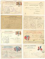 8 Cartes Franchises Militaires Diverses, Tous états ( Vaucluse, Drôme, Bouches Du Rhône )  ( S.7345 ) - Andere