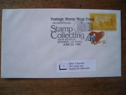 Bureau Temporaire 1995 Mega Event Stamp Collecting Asda Anaheim Ca. - Postal History