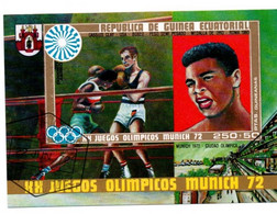 3 Bloc Olympics Munich 1972 - Boxe Cassius Clay Ali - Aviron + Athlétisme Saut Longueur Rosendahl - Guinea Ecuatorial - Estate 1972: Monaco