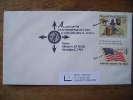 Bureau Temporaire  1995 Allentown Transportation Art & Memorabilia Show, Timbre National Postal Museum - Postal History