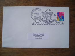 Bureau Temporaire  1997 Springfield Sprinpex 150 Years US Postage Stamps - Postal History