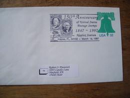 Bureau Temporaire  1997 150th US Postage Stamps Naplex, Naples Florida - Postal History