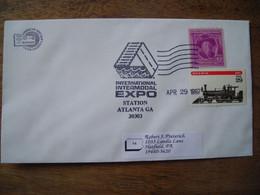 Bureau Temporaire  1997 International Intermodal Expo Atlanta, Timbres Joel Harris, Loco à Vapeur - Postal History