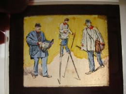 5 PUB Litho Cards C1900 Stilts Stelt ECHASSES, Stelzen Postman Postmen Sneeuw Moeras , Magic Lantern Slide VG - Altri
