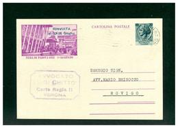 ITALIA - CARTOLINA INTERO POSTALE - FIERA DI PADOVA 1953 - CHLORODONT - LEOCREMA - Interi Postali