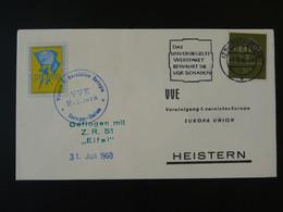 Lettre Cover Rakete Rocket Mail Raketenflug Europa 1960 Eschweiler Ref 101680 - Briefe U. Dokumente