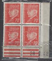 CD 511 FRANCE 1942 COIN DATE 511  : 28 / 2 / 42 EFFIGIES DU MARECHAL PETAIN - 1940-1949