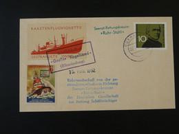 Lettre Cover Rakete Rocket Mail Raketenflug Vignette Vogelsand 1962 Cuxhaven Ref 101683 - Briefe U. Dokumente