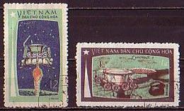 VIETNAM Du Nord - 1971 - Cosmos Luna 17 - 12xu, 1d  Obl. Yv 731/733 - Viêt-Nam