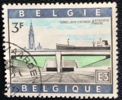 België - Belgique - C2/37 - (°)used - 1969 - Michel 1570 - Kennedy Tunnel Onder De Schelde - Gebraucht