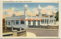 Postcard Mohammedan Mosque Port Of Spain Puerto España Trinidad Y Tobago - Autres