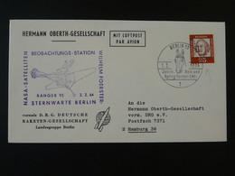 Lettre Cover Timbre Perforé Perfin Stamp DRG Deutsche Raketen Gesellschaft Espace Space Berlin 1964 Ref 101689 - Briefe U. Dokumente