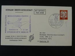 Lettre Cover Timbre Perforé Perfin Stamp DRG Deutsche Raketen Gesellschaft Espace Space Berlin 1964 Ref 101691 - Briefe U. Dokumente