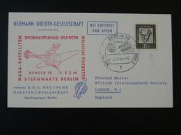 Carte Timbre Perforé Perfin Stamp DRG Deutsche Raketen Gesellschaft Espace Space Berlin 1964 Ref 101690 - Briefe U. Dokumente