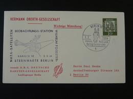 Lettre Cover Timbre Perforé Perfin Stamp DRG Deutsche Raketen Gesellschaft Espace Space Berlin 1964 Ref 101692 - Briefe U. Dokumente