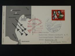Carte DRG Deutsche Raketen Gesellschaft Espace Space Rakete Rocket Mail Sahlenburg 1963 Ref 101694 - Briefe U. Dokumente