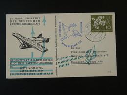 Carte DRG Deutsche Raketen Gesellschaft Espace Space Rakete Rocket Mail Bundeswehr 1962 Ref 101696 - Briefe U. Dokumente