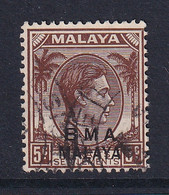 B.M.A. (Malaya): 1945/48   KGVI 'B.M.A.' OVPT   SG5    5c      Used - Malaya (British Military Administration)