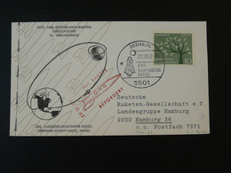 Carte DRG Deutsche Raketen Gesellschaft Espace Space Rakete Rocket Mail Zierenberg 1962 Ref 101697 - Briefe U. Dokumente