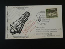 Carte DRG Deutsche Raketen Gesellschaft Espace Space Rakete Rocket Mail Zierenberg 1962 Ref 101698 - Briefe U. Dokumente