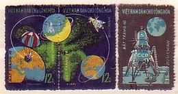 VIETNAM Du Nord - 1971 - Kosmos Luna 16 - 3v  Obl. Yv 728/730 - Viêt-Nam