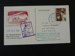 Carte Commemorative Card Rakete Rocket Mail Raketenflug Cuxhaven 1961 Ref 101702 - Briefe U. Dokumente