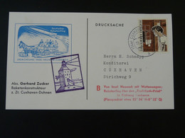 Carte Commemorative Card Rakete Rocket Mail Raketenflug Cuxhaven 1961 Ref 101703 - Briefe U. Dokumente