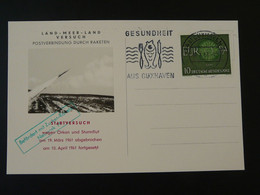 Carte Flown Postcard Rakete Rocket Mail Raketenflug Cuxhaven Europa 1961 Ref 101704 - Briefe U. Dokumente
