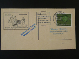 Carte Flown Postcard Rakete Rocket Mail Raketenflug In China Wan-Hoo Duren Europa 1961 Ref 101706 - Briefe U. Dokumente