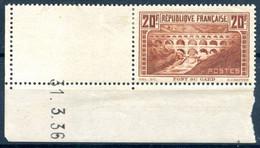 France N°262 IIB (Pont Du Gard) - Neuf* - Coin Daté 31.3.36 - (F992) - 1930-1939