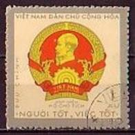 VIETNAM Du Nord - 1971 - Insignes Du President Ho Chi Minh - 1xu  Obl. Yv 714 - Viêt-Nam