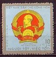 VIETNAM Du Nord - 1971 - Insignes Du President Ho Chi Minh - 10xu  Obl. Yv 714 - Viêt-Nam