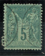 France N°75 - TAD CAMP DU RUCHARD - (F995) - 1876-1898 Sage (Tipo II)