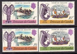 Tristan Da Cunha 1970 Crawfish Industry Set Of 4, MNH, SG 133/6 - Tristan Da Cunha