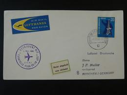 Lettre Premier Vol First Flight Cover Frankfurt Munchen Caravelle Lufthansa 1963 Ref 101709 - Briefe U. Dokumente