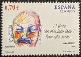 Spain, 2012, Mi 4690, Famous People, José Hierro Del Real (Pepe Hierro), Poet, 1v Out Of Set, MNH - 2011-... Nuovi & Linguelle