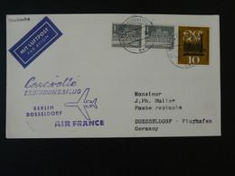 Lettre Premier Vol First Flight Cover Berlin --> Dusseldorf Caravelle Air France 1961 Ref 101711 - Briefe U. Dokumente