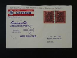 Lettre Premier Vol First Flight Cover Berlin --> Munchen Caravelle Air France 1961 Ref 101712 - Briefe U. Dokumente