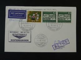 Lettre Premier Vol First Flight Cover Stuttgart --> Copenhagen Denmark Lufthansa 1962 Ref 101716 - Briefe U. Dokumente