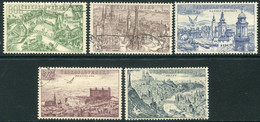 CZECHOSLOVAKIA 1955 City Views Used.  Michel 894-98 - Used Stamps
