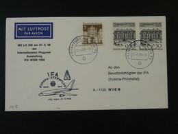 Lettre Vol Special Flight Cover Frankfurt --> Wien IFA 1968 Lufthansa Ref 101718 - Briefe U. Dokumente