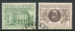 CZECHOSLOVAKIA 1955 Komensky University Used.  Michel 892-93 - Used Stamps