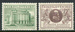 CZECHOSLOVAKIA 1955 Komensky University MNH / **.  Michel 892-93 - Unused Stamps