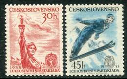 CZECHOSLOVAKIA 1955 National Spartakiad  MNH / **.  Michel 890-91 - Unused Stamps