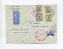 1929 Japan Zeppelin LZ 127 Weltrundfahrt Etappe Tokio - Lakehurst Auf Brief SI 31 B - Covers & Documents