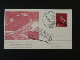 Carte DRG Deutsche Raketen Gesellschaft Espace Space Rakete Rocket Mail Soltau 1963 Ref 101720 - Briefe U. Dokumente