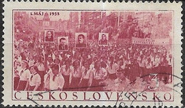 CZECHOSLOVAKIA 1953 Labour Day - 3k - Marching Crowds FU - Used Stamps